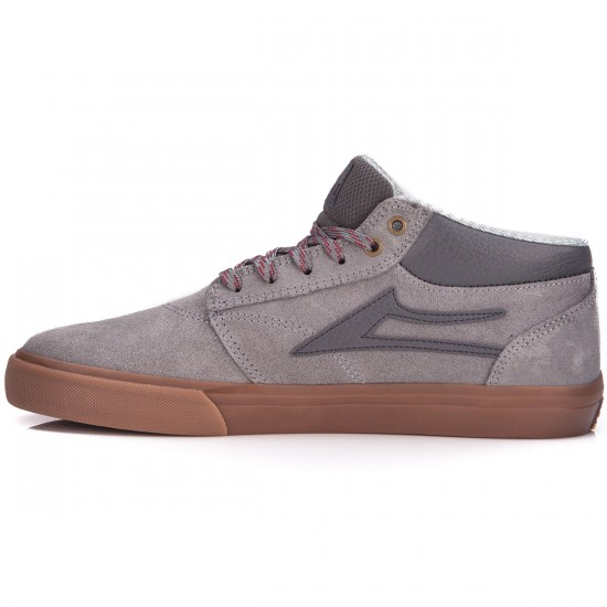 Lakai Griffin Mid AW Shoes - Grey/Gum/Oiled Suede - 10.0