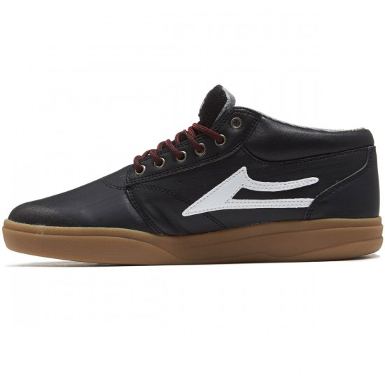 Lakai Griffin XLK Shoes - Black/Gum Leather - 8.0