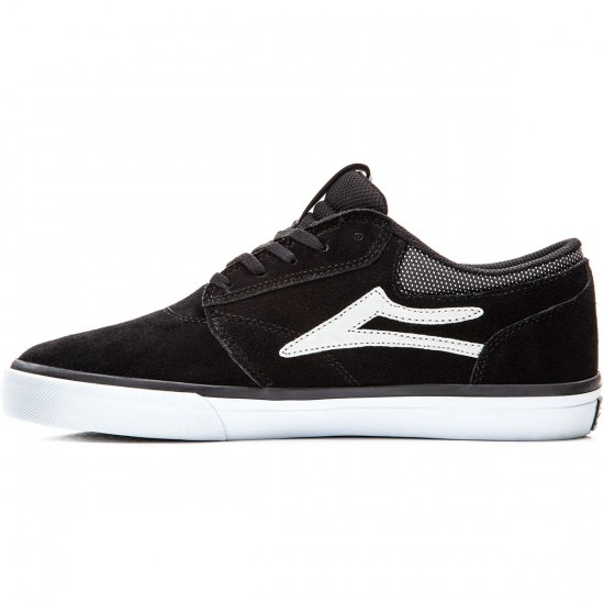 Lakai Griffin Shoes - Black/Grey Suede - 8.0