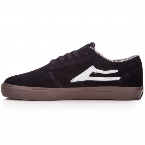 Lakai Griffin Shoes - Black/White/Gum - 6.0