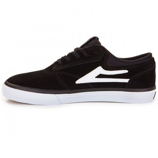 Lakai Griffin Shoes - Black/White Suede - 7.0