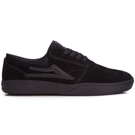 Lakai Griffin XLK Shoes - Black/Black Suede - 10.0