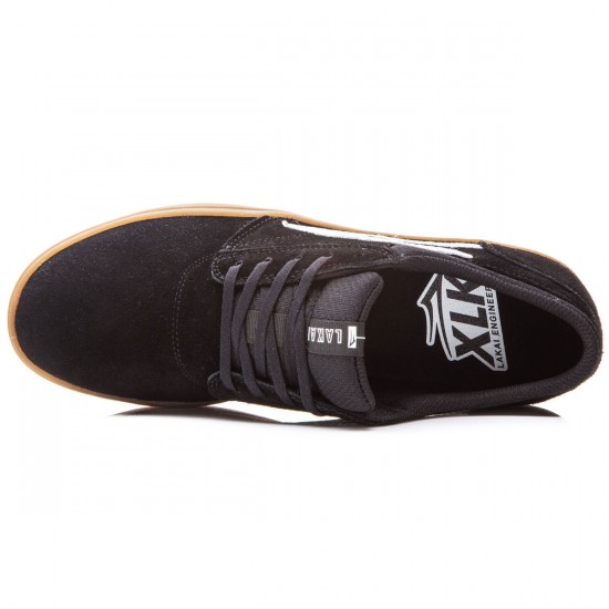 Lakai Griffin XLK Shoes - Black/Gum Suede - 8.0