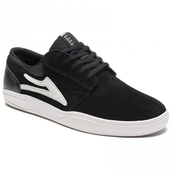Lakai Griffin XLK Shoes - Black/White Suede
