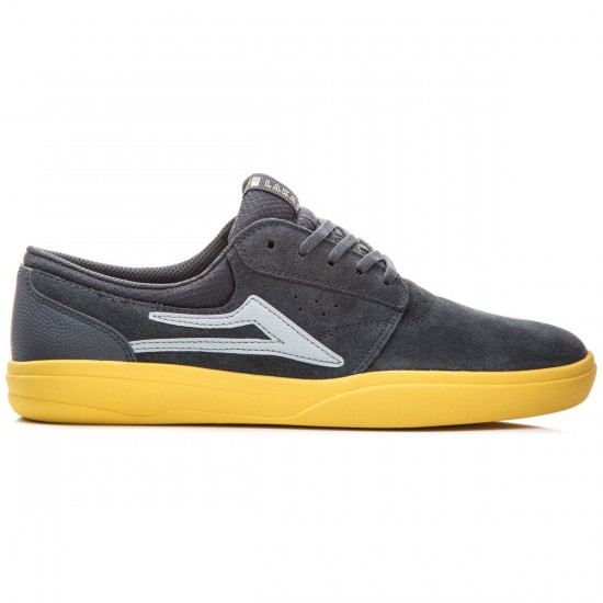 Lakai Griffin XLK Shoes - Grey/Yellow/Suede - 8.0