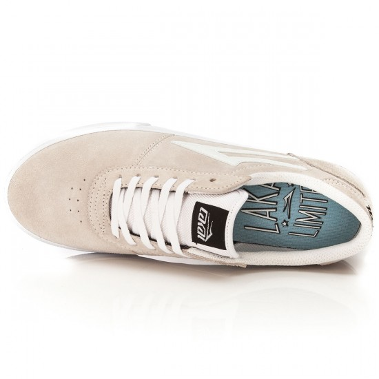 Lakai Manchester Chalk Shoes - White/White/Suede - 10.0
