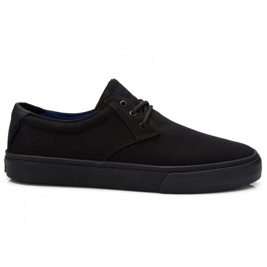 Lakai MJ Shoes - Black/Black Canvas - 5.0