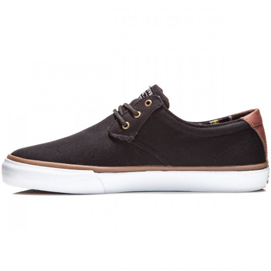 Lakai MJ Shoes - Black/Brown Suede - 8.0