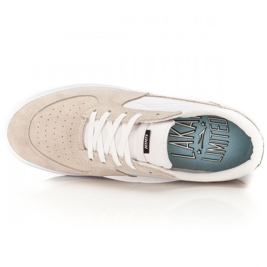 Lakai Parker Chalk Shoes - White/White/Suede - 10.0