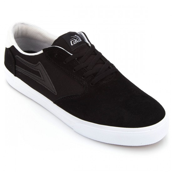 Lakai Pico Shoes - Black/White Suede - 10.0