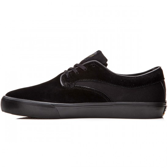 Lakai Riley Hawk Shoes - Black/Black Suede - 8.0