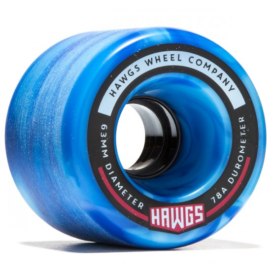 Landyachtz Fatty Hawgs Longboard Wheels - 63mm - 78a - Blue