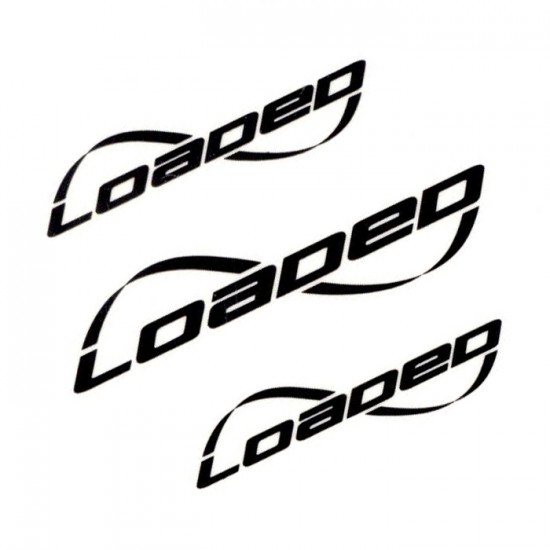 Loaded Triple Logo Stickers