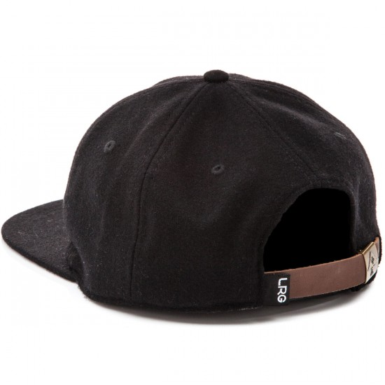 LRG Blank Check Strap Back Hat - Black
