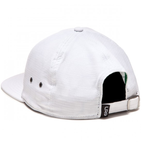 LRG Branded Strapback Hat - White