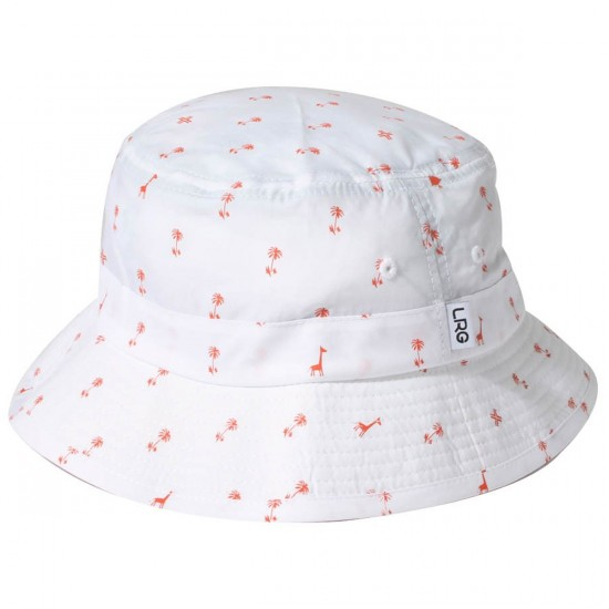 LRG Palm Grove Bucket Hat - White