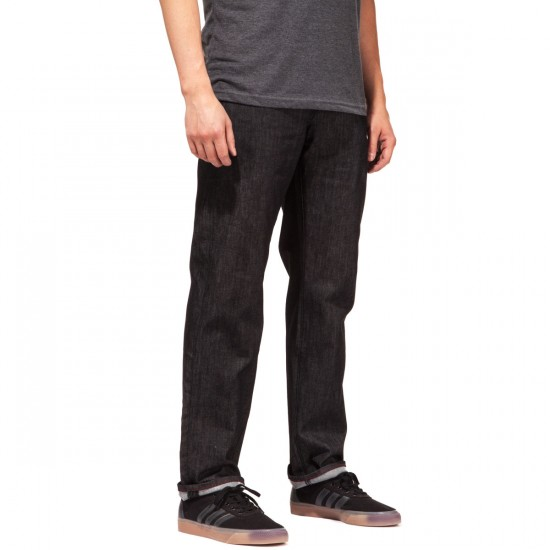 LRG RC True Straight Fit Jeans - Raw Black - 28 - 32