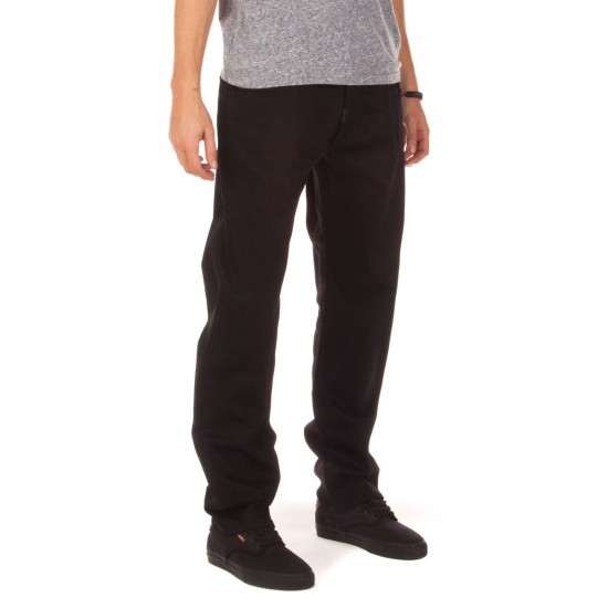 LRG RC True Straight Fit Jeans - Triple Black - 33 - 32
