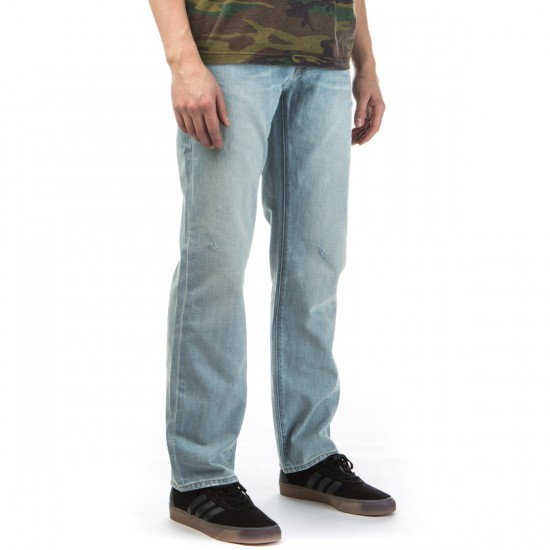 LRG True Straight Fit Jeans - Sun Bleached - 30 - 32