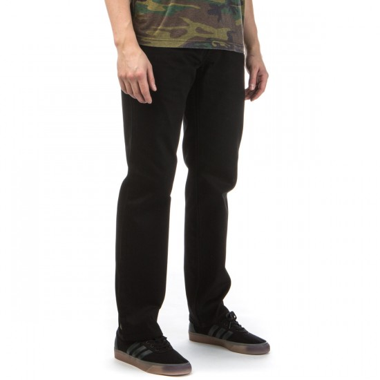 LRG True Straight Fit Jeans - Triple Black - 28 - 32