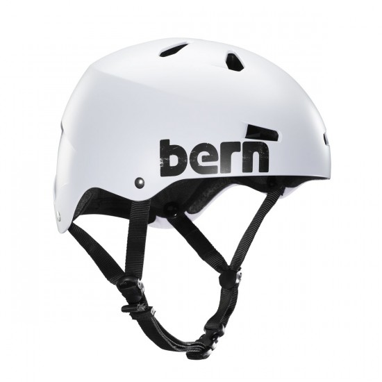 Bern Macon EPS Helmet - Dual Certified - Satin White