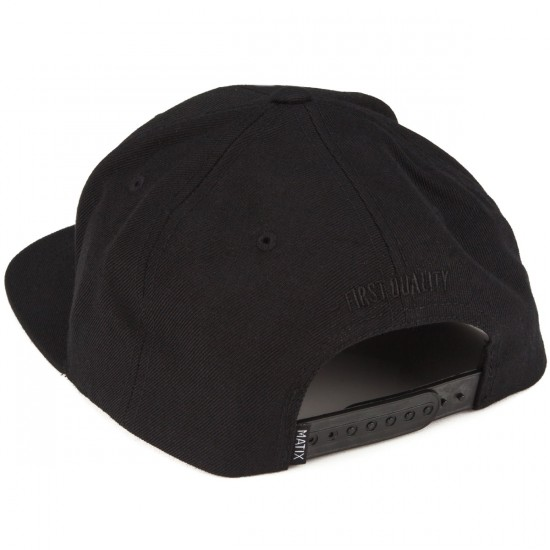Matix Monoset Stitch Hat - Black