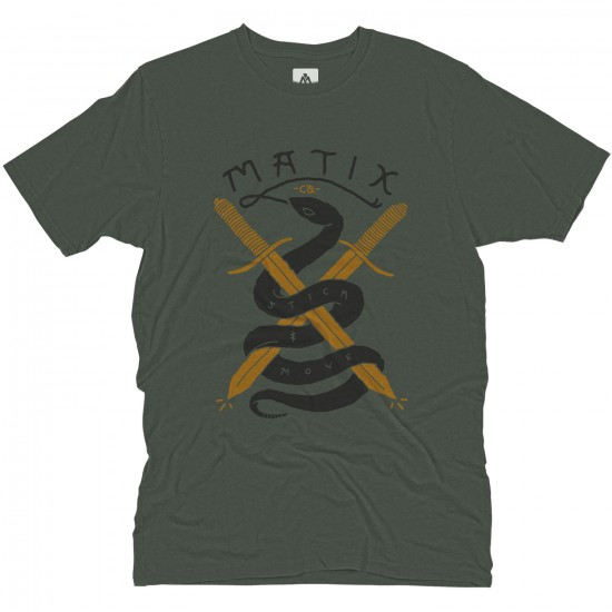 Matix Snakes T-Shirt - Military Green