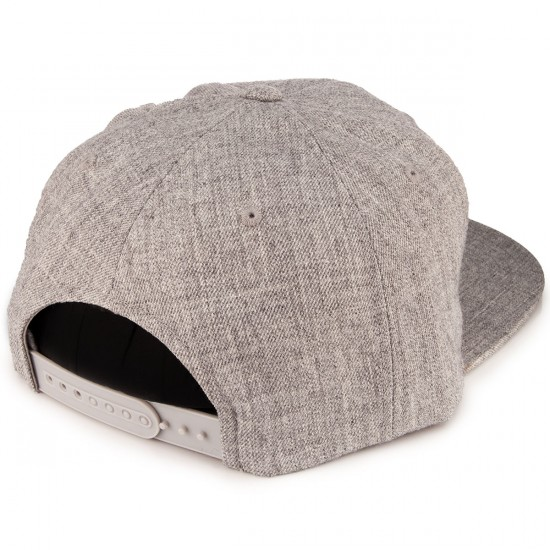 Moonshine Logo Snapback Hat - Heather Grey