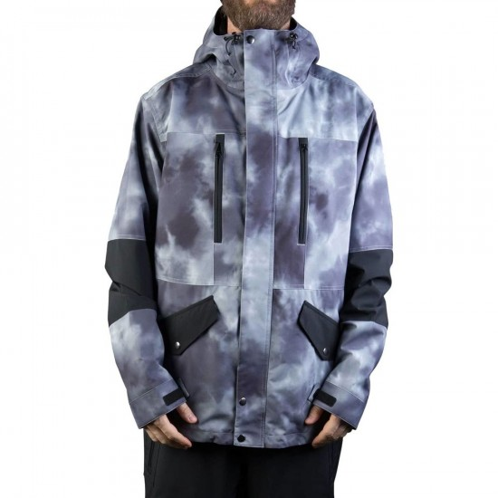 Neff Daily Snowboard Jacket - Smoke Crystal