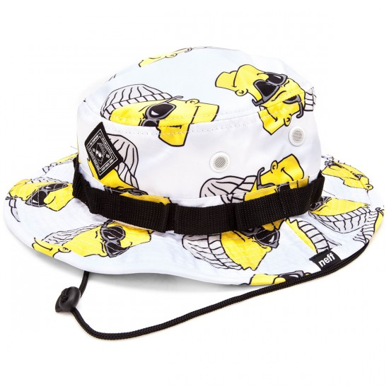 Neff Steezy Bart Boonie Hat - White