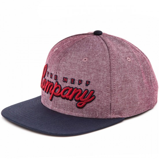 Neff The Company Hat - Red/Navy