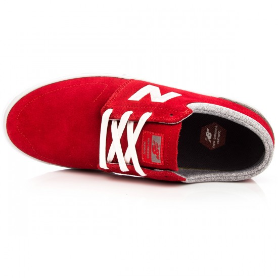 New Balance Brighton 344 Shoes - Red/Grey Suede - 8.0