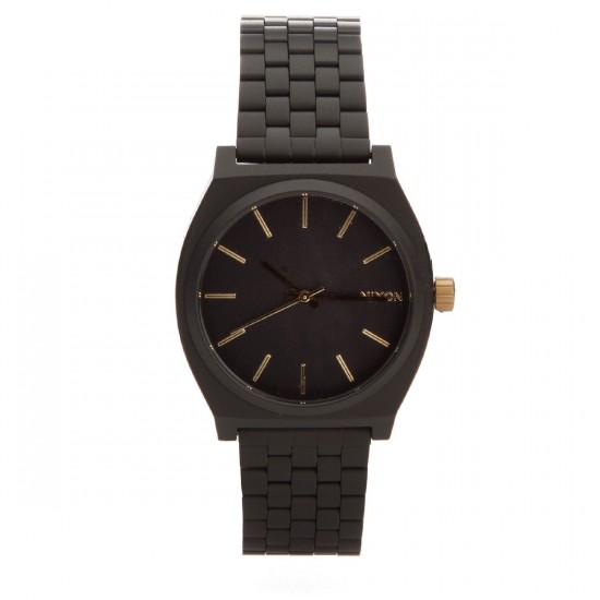 Nixon Time Teller Watch - Matte Black/Gold
