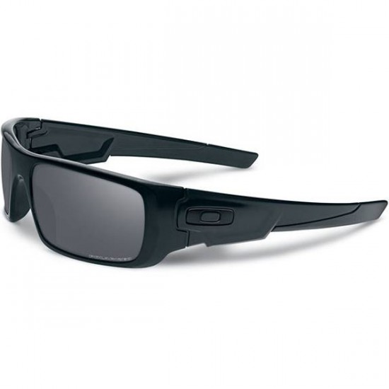 Oakley Crankshaft Sunglasses - Matte Black/Black Iridium Polarized