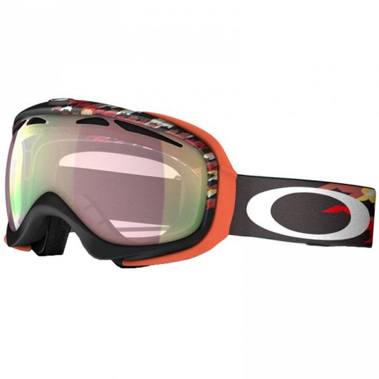 Oakley Elevate Snow Goggles 2014 - Houndstooth Black / VR50 Pink Iridium