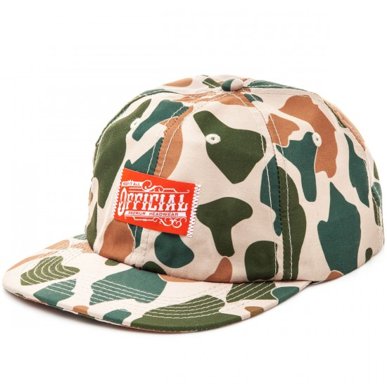 Official Duckwear 6 Panel Strapback Hat - Duck Camo