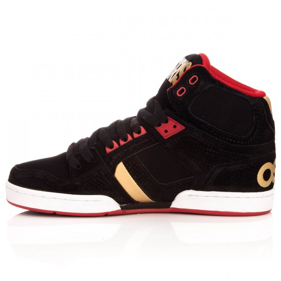 Osiris NYC 83 Shoes - Black/Red Dots - 10.0