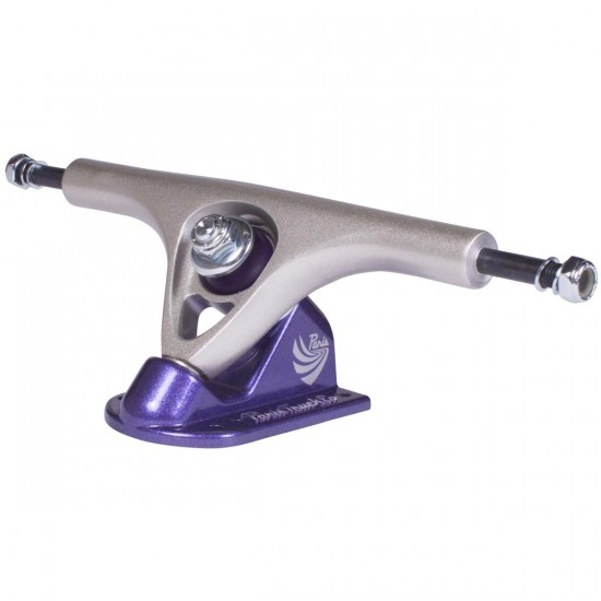 Paris 180mm Longboard Trucks - Raw/Purple V2
