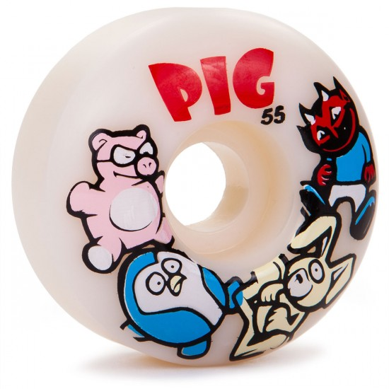 Pig Animal Friends Skateboard Wheels - 55mm - 101a