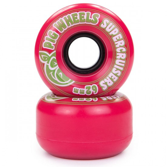 Pig SuperCruiser ll Skateboard Wheels - Pink - 62mm 85a