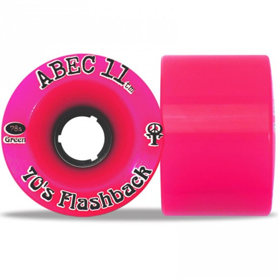 Abec11 70's Flashbacks Longboard Wheels 70mm - Pink Limited Edition