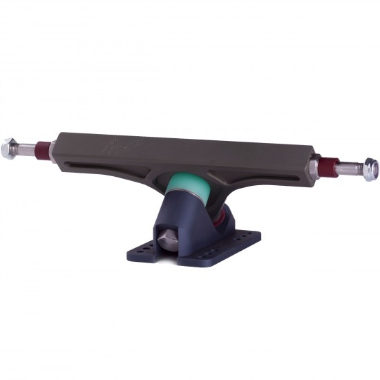 PNL 47 Degree Strummer Precision Longboard Trucks 180mm -  Green / Grey