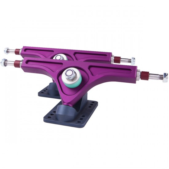 PNL 47 Degree Strummer Precision Longboard Trucks 180mm - Purple / Grey