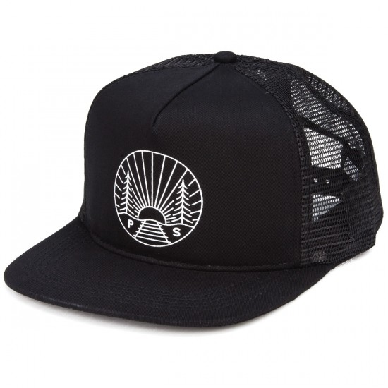 Poler Camp Vibes Trucker Hat - Black