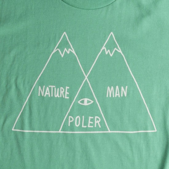 Poler Venn Diagram T-Shirt - Forest Service Green