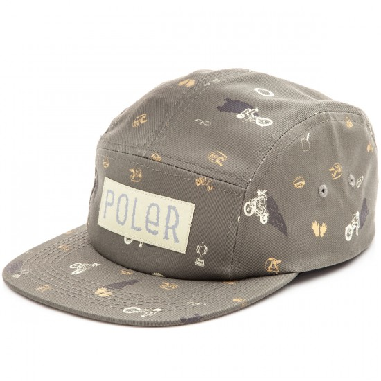 Poler Widowmaker Camper Hat - Burnt Olive Wheelie Print