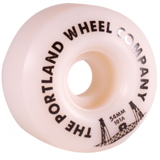The Portland Wheel Co. The Standard Skateboard Wheels 54mm 101a - White