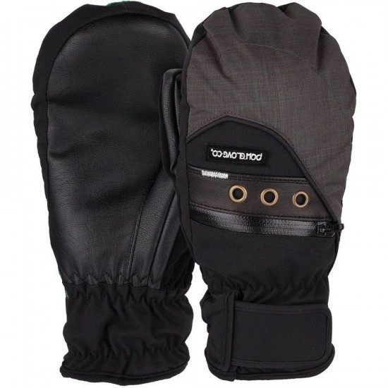 POW Astra Mitt Womens Snowboard Gloves - Black