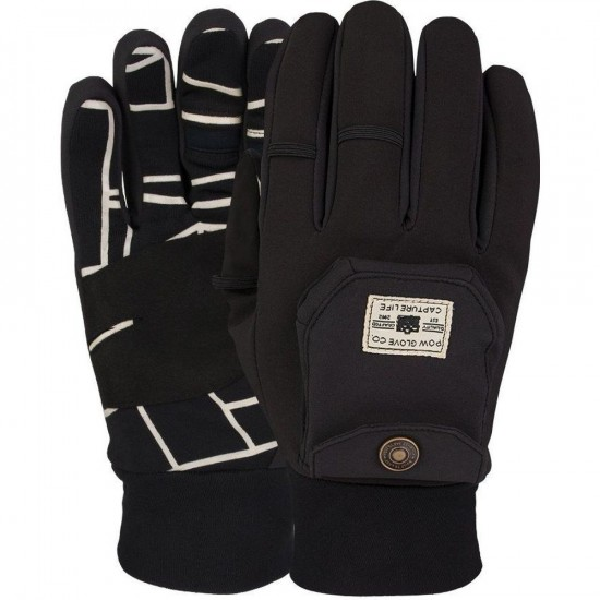 POW Pho-Tog Snowboard Gloves - Black