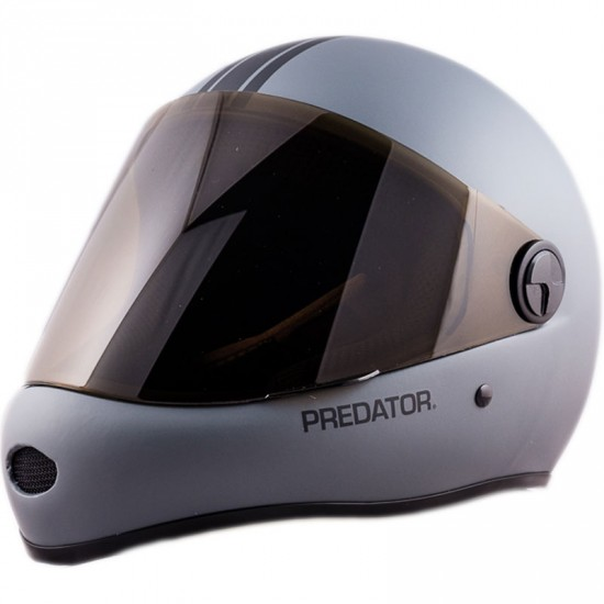 Predator DH6 Full Face Race Helmet - Matte Grey